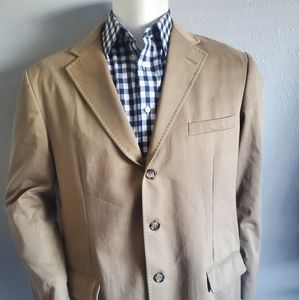 Faconnable Men's Tan Casual Sport Coat Size Large
